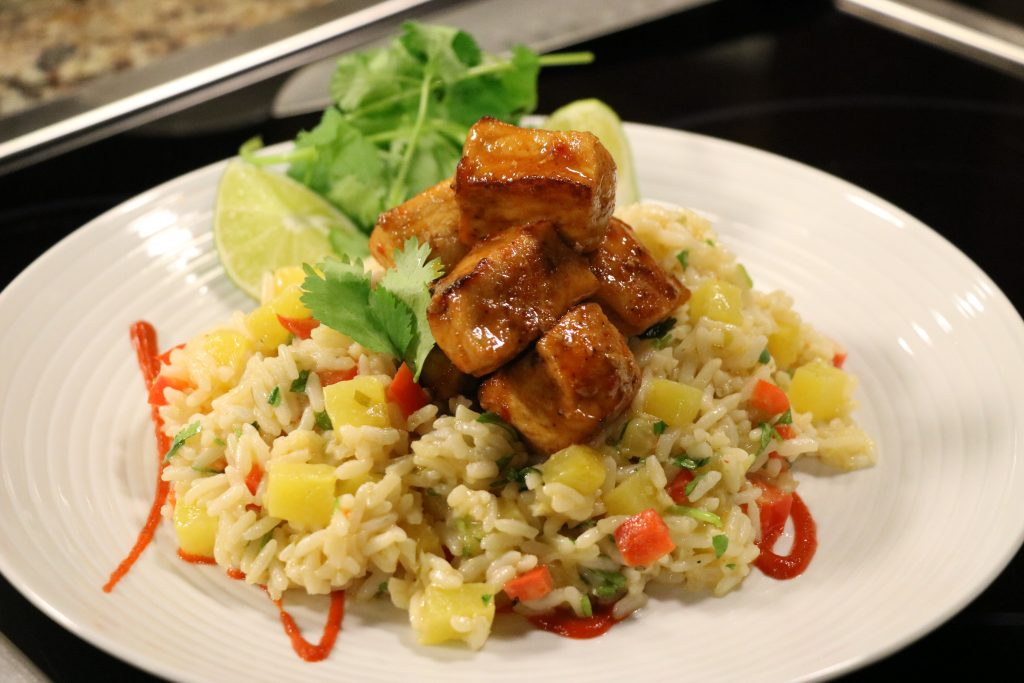 Southeast Asian Style Sweet and Spicy Pineapple Rice with Truckin' Good Eats