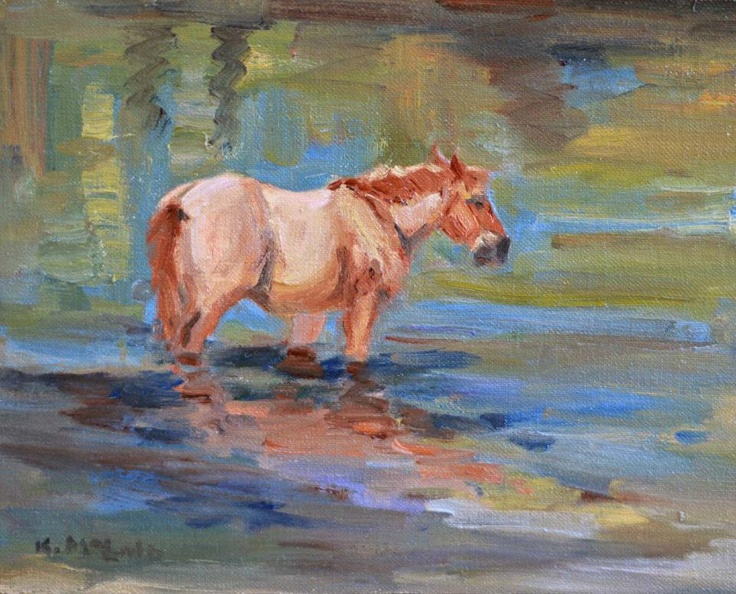 AIA Holds Plein Air Workshop on Assateague — Painting Wild Horses from Life