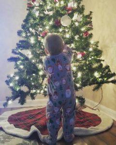 Logan's first Christmas, sent in by Grandma Mary Cardano of Millsboro, Delaware.