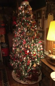 This Christmas tree belonging to Brad and Joy Spicer of Laurel, Delaware, contains more than 350 Santa ornaments.