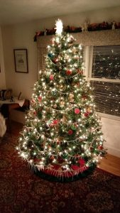 Lucy's Christmas tree in Cambridge, Maryland.