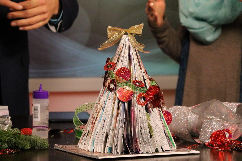 Magazine Christmas Tree Craft