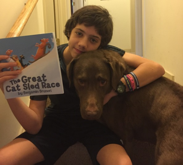 """12-Year-Old Author, Benjamin Brunori, Talks About His Book """"The Great Cat Sled Race"""""""