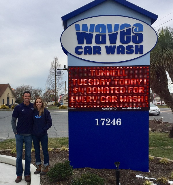Waves Car Wash Holding Fundraiser for Tunnell Cancer Center