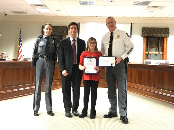 Milford 5th Grader Honored for Saving Fellow Student's Life