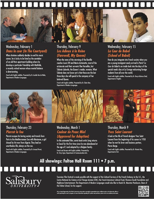 Salisbury University Presents Tournées French Film Festival