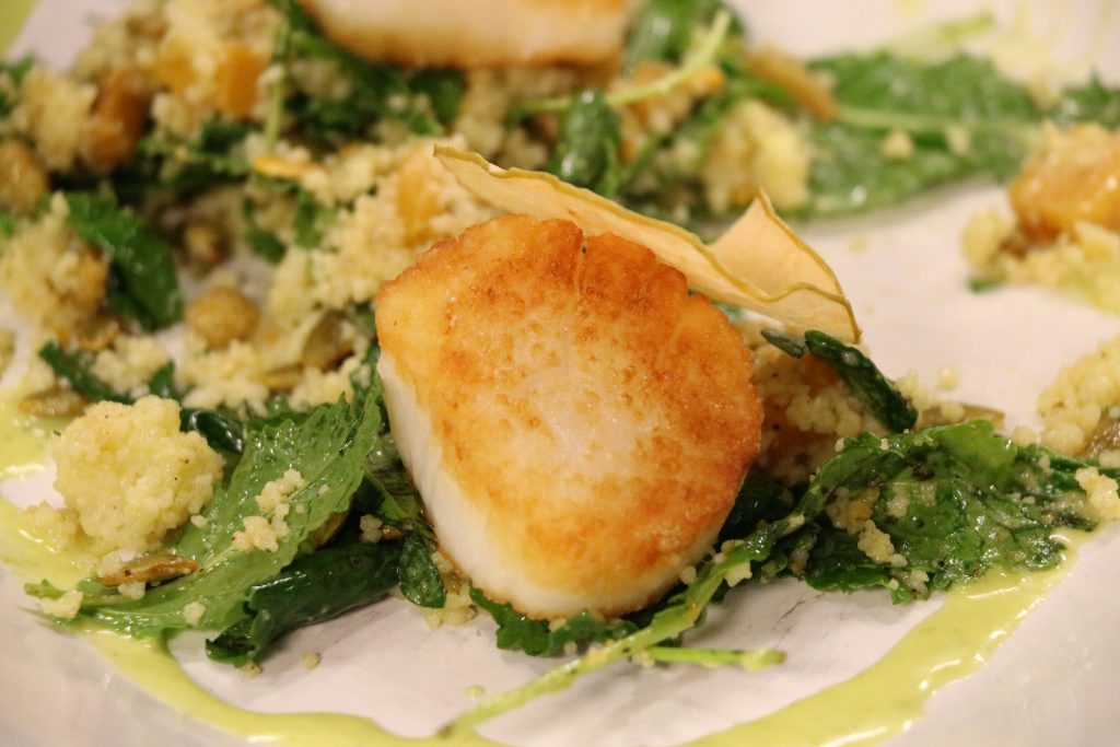 Seared Scallops with Just Hooked in Fenwick Island