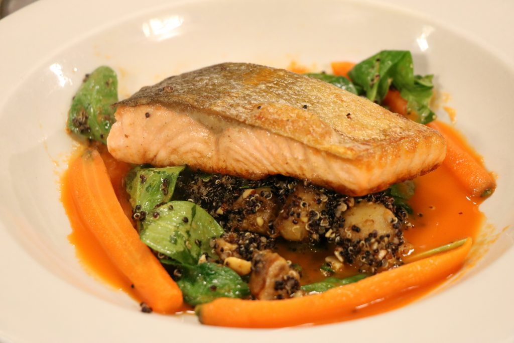 Pan Roasted Salmon with Just Hooked
