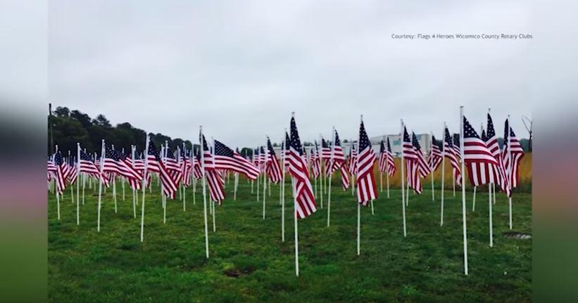 Rotary Club of Salisbury, 'Flags for Heroes' in Wicomico County