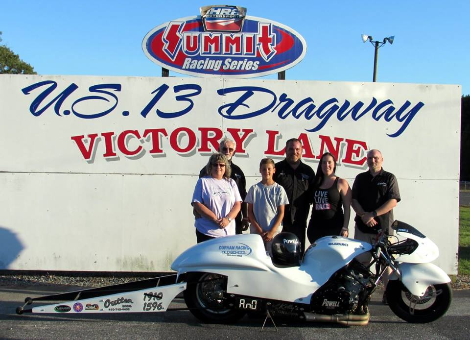 Powell Takes Win in Outten Brother Pro Bike Class: U. S. 13 Dragway