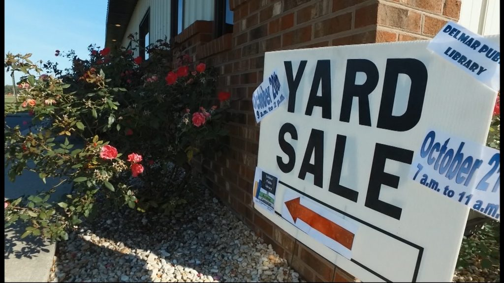 Travels With Charlie: Delmar Public Library Yard Sale
