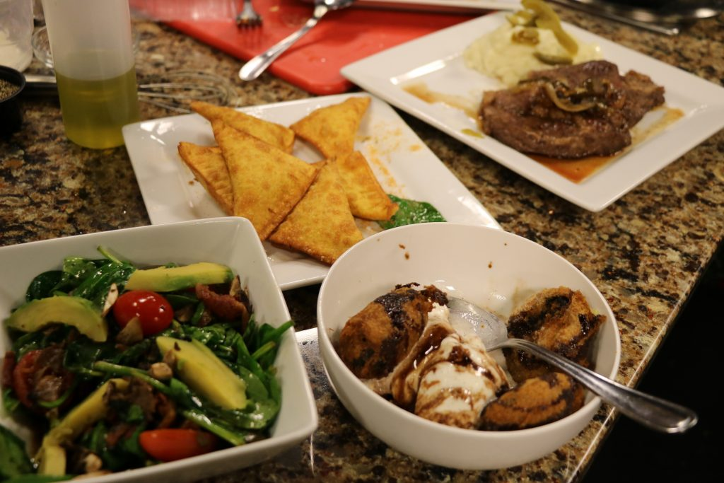 Spinach Salad, Crab Dip Wontons, Ribeye and Taters, and a Fried Oreo Cookie Sundae: DelmarvaLife Facebook Live Recipes – Nov. 7, 2017