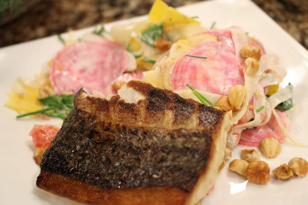Chesapeake Rockfish and Winter Root Vegetable Salad: DelmarvaLife Facebook Live Show Recipes – Dec. 19, 2017