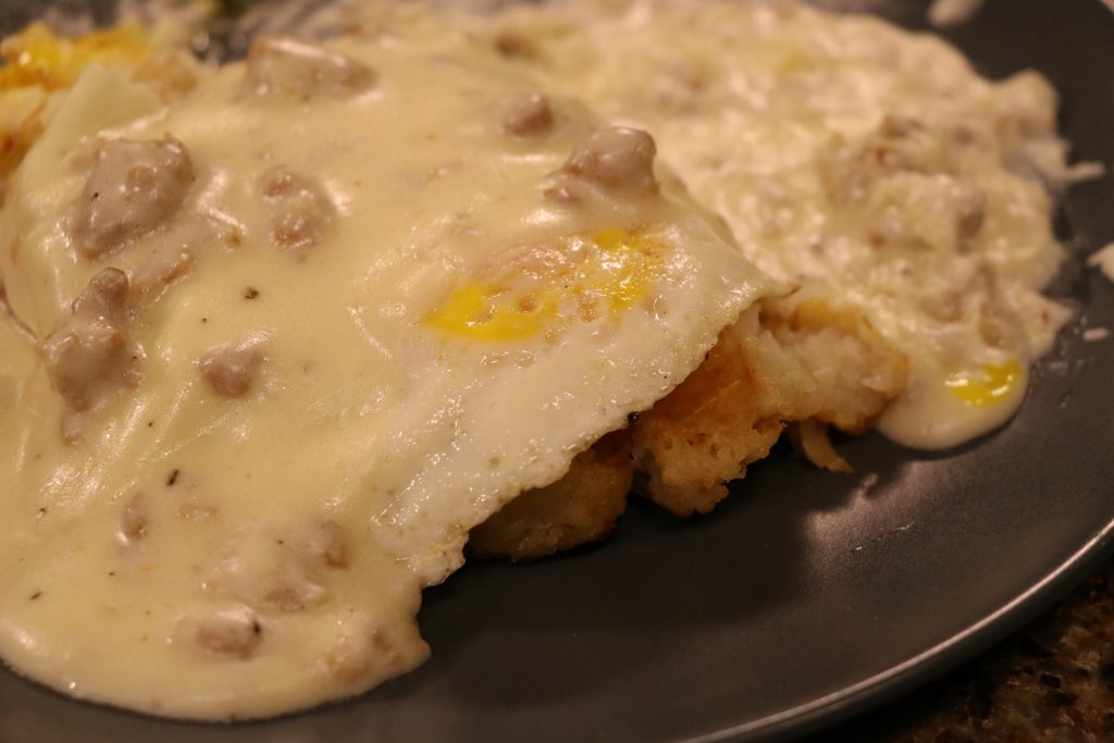 Tater Tot Waffle with Sausage Gravy and Coconut Meringue Cookies: DelmarvaLife Facebook Live Recipes – Jan. 31, 2018
