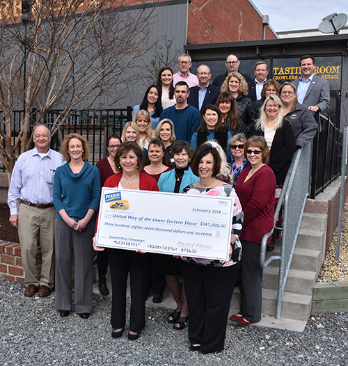Perdue Farms Associates Present Record $387K to United Way of the Lower Eastern Shore