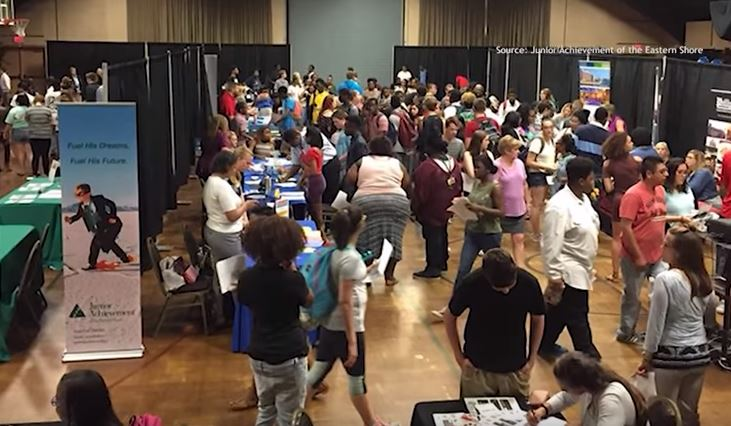 Junior Achievement of the Eastern Shore Career Fair at the Wicomico Youth and Civic Center
