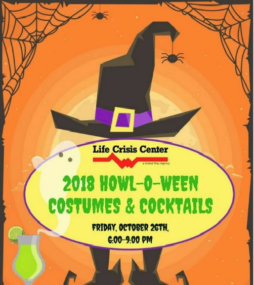 Life Crisis Center's 2018 Howl-O-Ween Costumes and Cocktails Fundraiser, Oct. 26