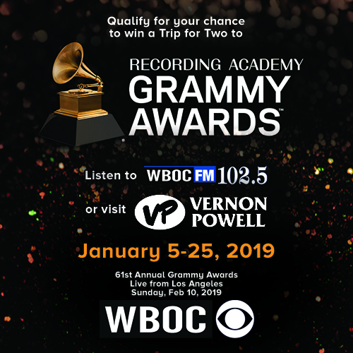 WBOC FM and Vernon Powell is Giving Away a Trip for Two to the Grammy Awards