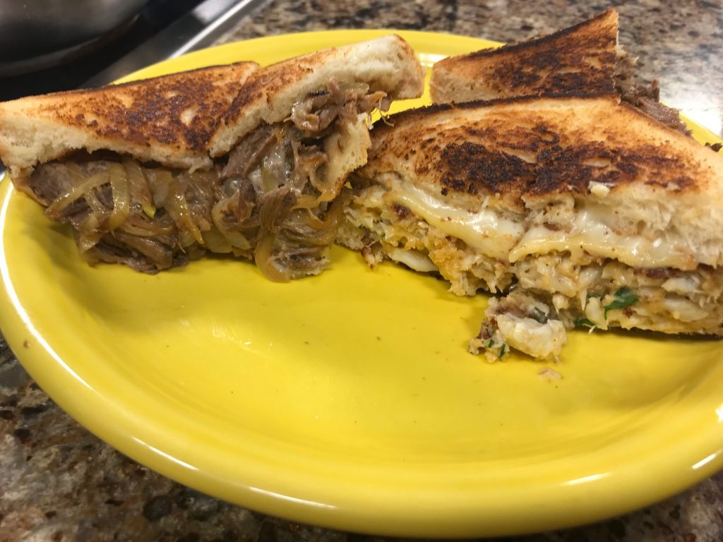 Short Rib Grilled Cheese and Crab Cake Grilled Cheese with Matt's Fish Camp in Lewes