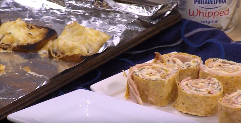 Crabmeat Canapés and Ham & Cheese Pesto Roll-ups with Denise Clemons