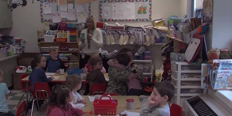 Military Mom from Millsboro Surprises Daughter at School