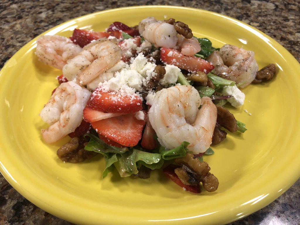Strawberry & Feta Salad with Sautéed Shrimp with The Washington Inn & Tavern