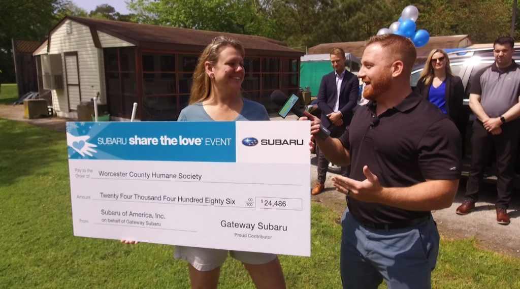 """Gateway Subaru's """"Share the Love"""" Campaign Helps Worcester Co. Humane Society"""
