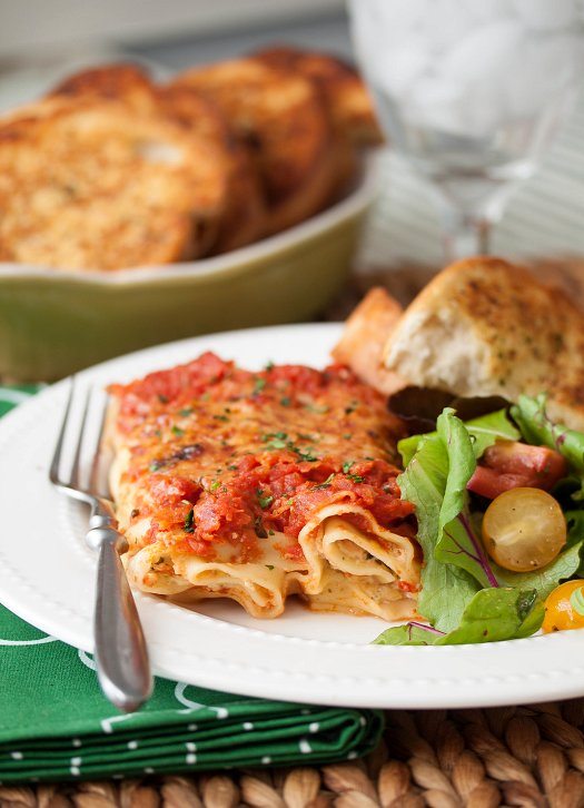 Cheese Manicotti and Bean and Cheese Enchiladas with Tide and Thyme Food Blogger, Laura Davis