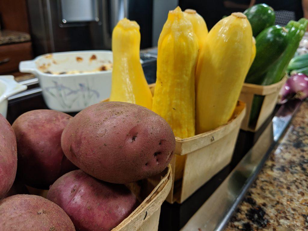 Summer Lunch in the Garden Program and Summer Vegetable Casserole with the Camden Community Garden