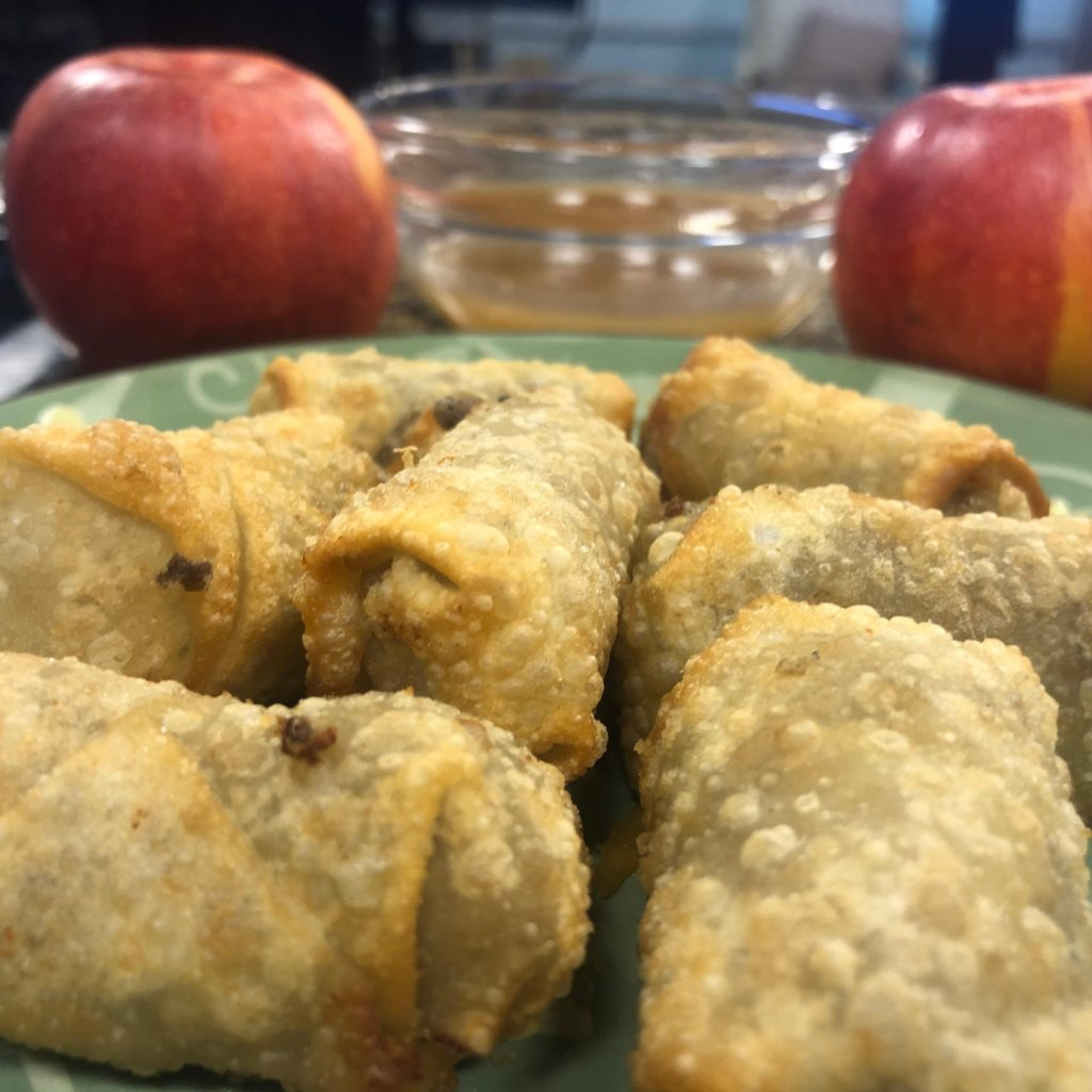 Miniature Scrapple & Gouda Cheese Egg Rolls with Chef Scott Kemp
