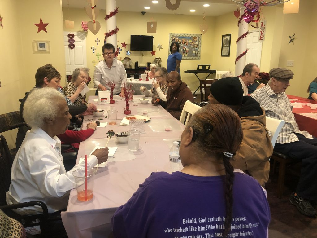 Celebrating Valentine's Day at Delmar Assisted Living