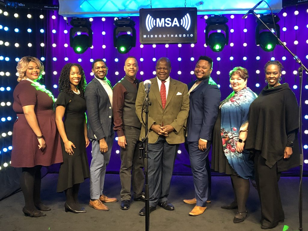 American Spiritual Ensemble Performs on Mid South Audio Stage