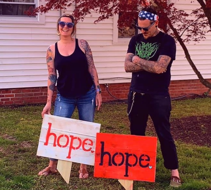 "Milton Family Creates Signs of ""Hope"""