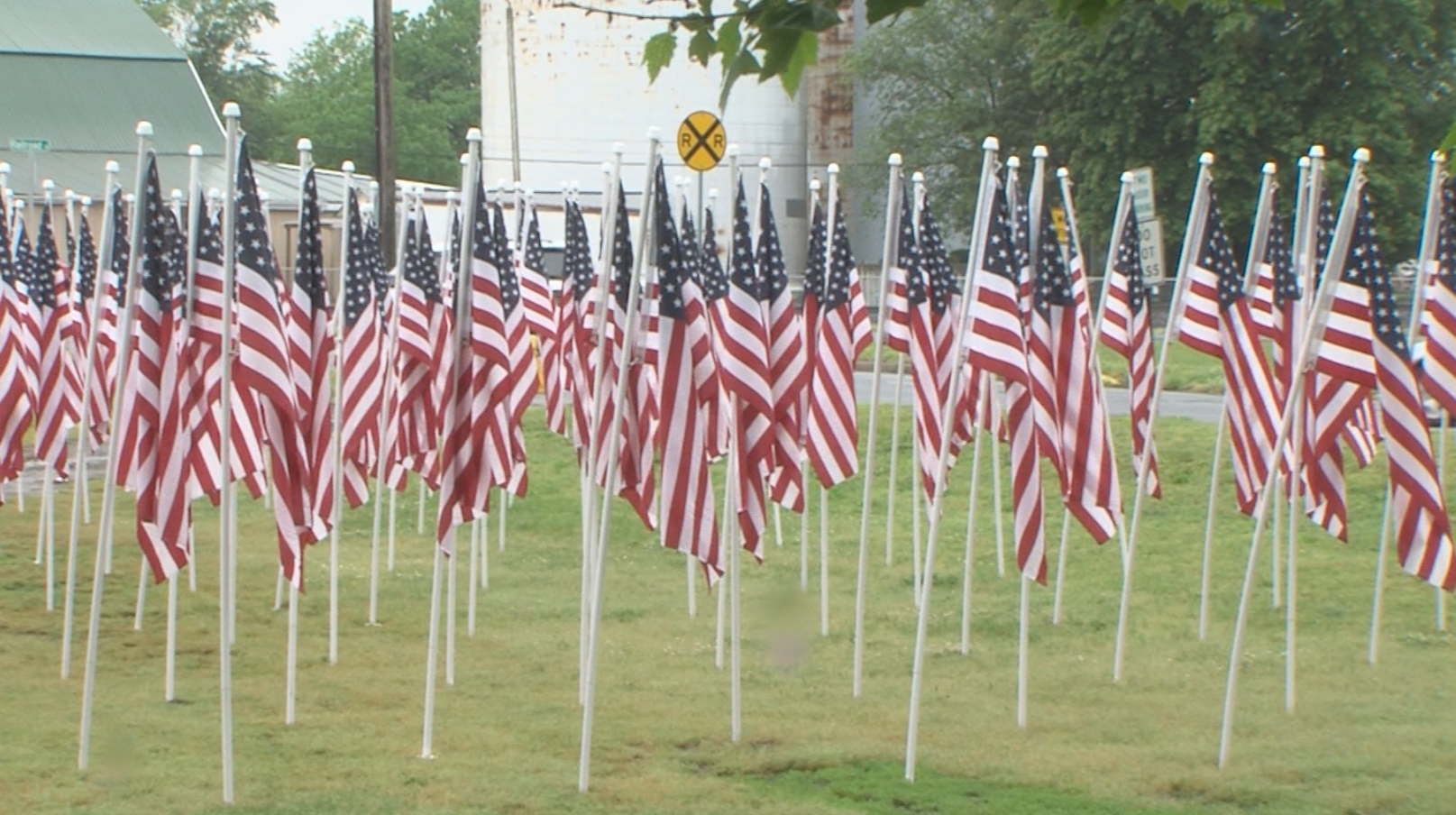 Flags for Frontline Heroes Put Up in Rehoboth