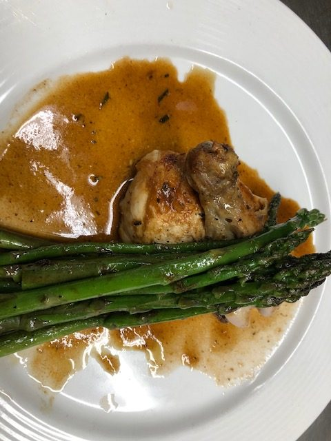 Chef Mark Salter Makes Roast Chicken and Asparagus