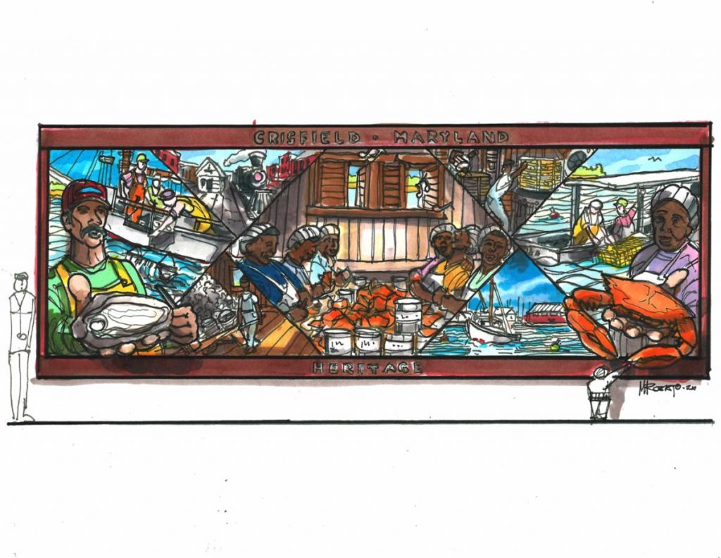 New Mural Set To Be Displayed in Crisfield, Honors Dedicated Seafood Workers