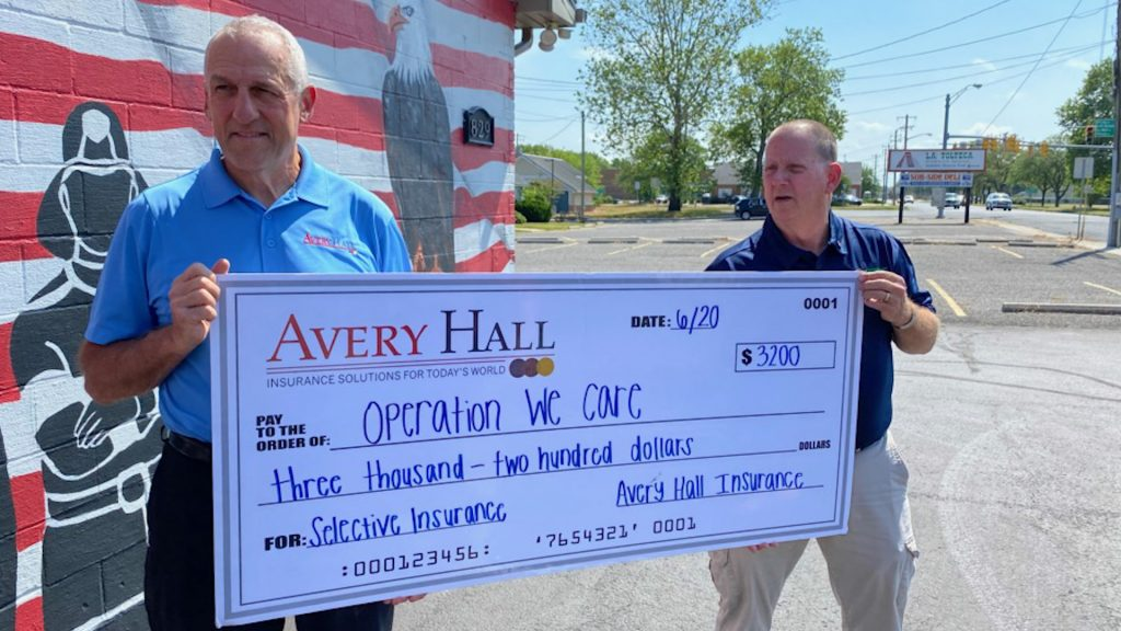 Avery Hall Insurance and Operation We Care Partnering To Give Back to the Community