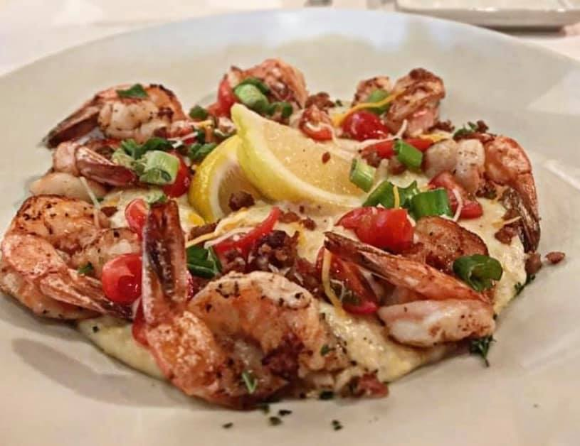 Shrimp and Grits with Bill's Prime Seafood and Steak