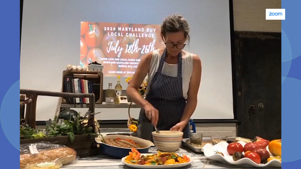 Sausage, Pepper and Heirloom Tomato Salad with Eastern Shore Land Conservancy