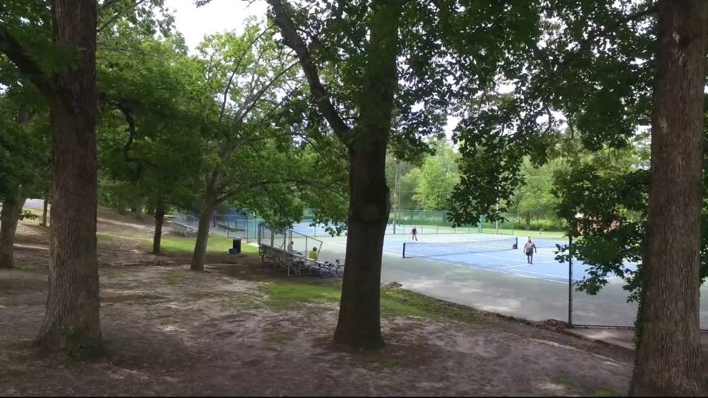 Travels With Charlie: Tennis Court at Salisbury City Park