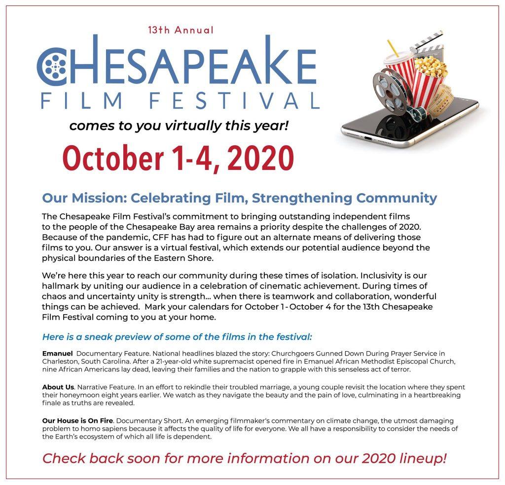 Chesapeake Film Festival Goes Virtual