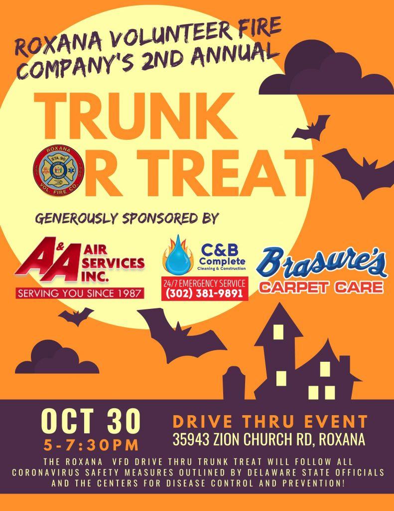 "Roxana Volunteer Fire Company Hosting Drive-Thru ""Trunk or Treat"" Event"