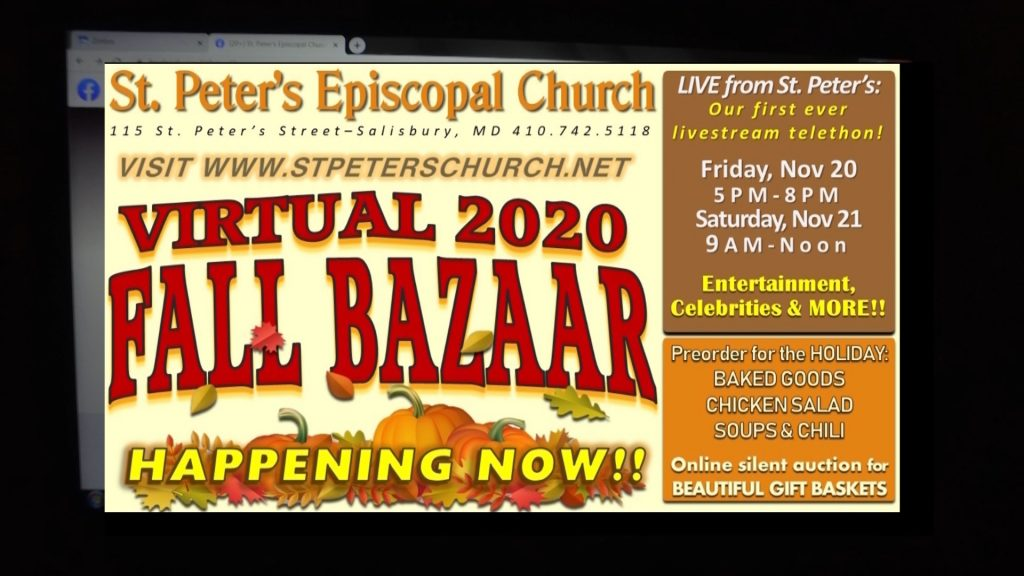 Travels With Charlie: St. Peter's Episcopal Church Virtual 2020 Fall Bazaar