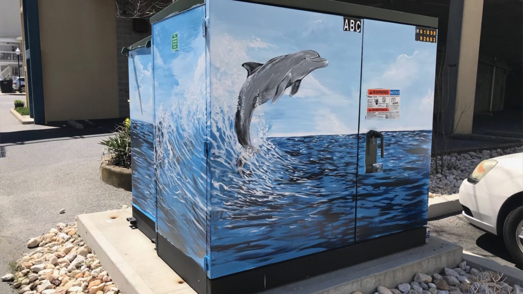 Travels With Charlie: Ocean City Utility Box Paintings