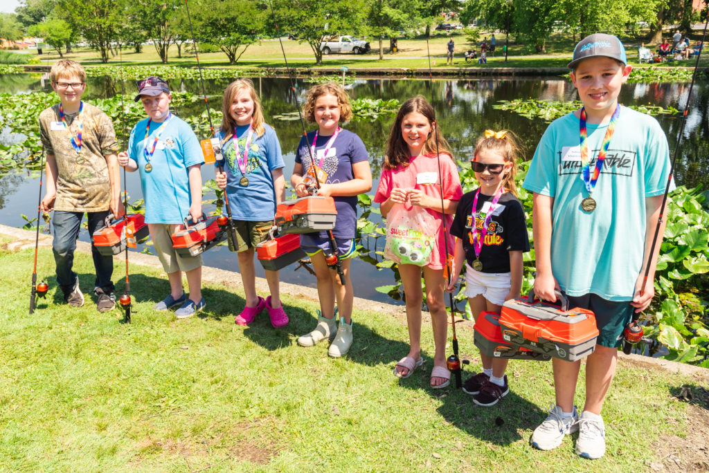 Seven Fishers Receive Awards at Wicomico Recreation's Youth Fishing Derby