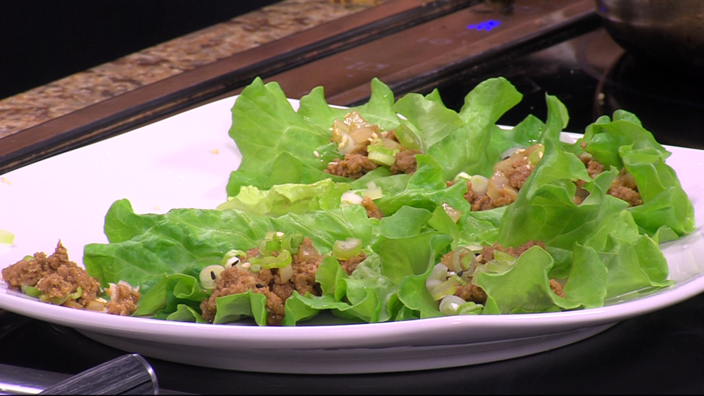 Denise Clemons Shows Us How to Make Sesame Lettuce Wraps