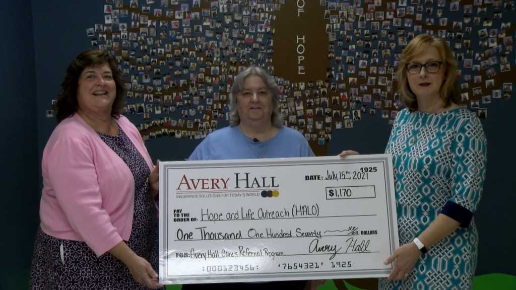 Avery Hall Cares Foundation Donates To The Hope And Life Outreach (HALO)