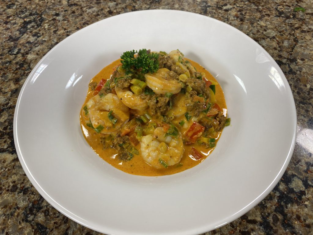 Chef Patrick Benzin of Green Hill Country Club Shows Us How to Make Shrimp & Grits