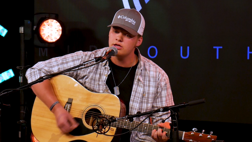 Caleb McBroom Performs From the Mid South Audio Stage in Milton