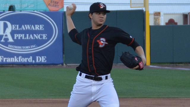Shorebirds' Alvarado Named Orioles Minor League Pitcher of the Month